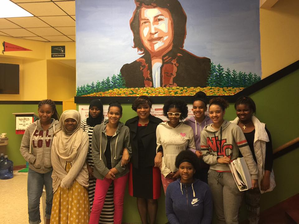Cesar chavez students mural